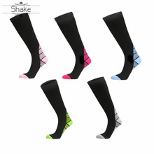 Shake compression socks for women varicose veins Women Men Medical Varicose Veins Leg Relief Pain Knee High Stockings level 1 a pair medical socks compression stockings varicose veins 15 22mmhg pressure mid calf length for both man and wowan