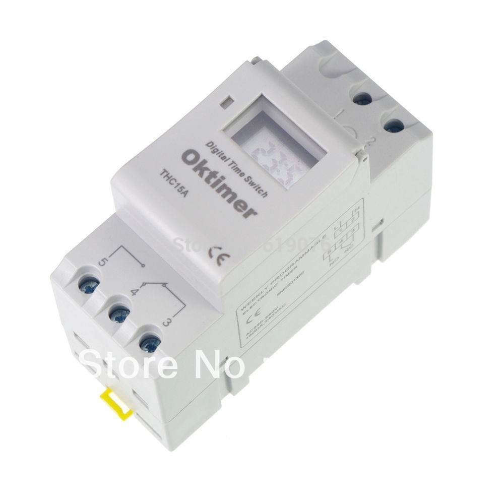 Thc15a Oktimer Microcomputer Electronic Programmable Digital Timer Circuit Switch Relay Control 12v 24v 110v 220v 16a Din