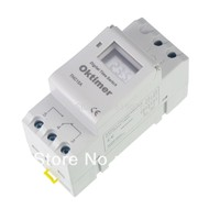 Microcomputer Electronic Programmable Digital TIMER SWITCH Relay Control 12V 110V 220V 16A Din Rail Mount THC15A