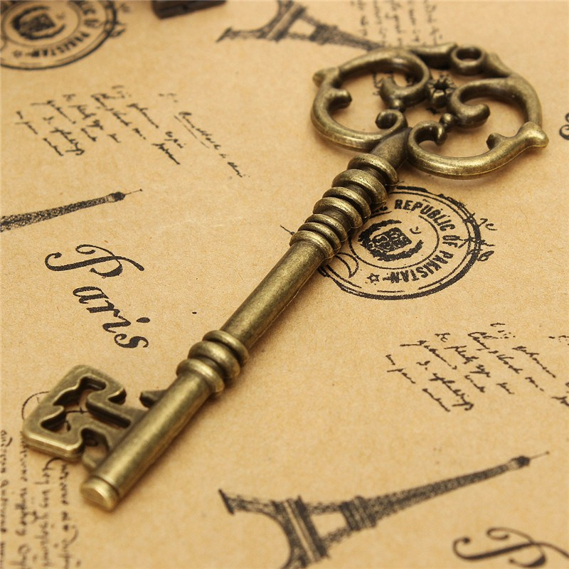 Hot Sale 1PC Vintage Antique Old style Look Bronze Key Bow For Making Pendant Necklace Hanging Decor Jewerly Craft