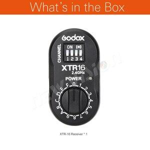 Image 2 - Godox XTR 16 2.4G Sem Fio Transmissor Receptor para X1C X1N XT 16 Gatilho AD360, DE, QT, DP, QS, GS, a Série GT