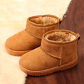 Children Boots Winter Girls Boys Snow Boots Thick Cotton-Padded Suede Warm Ankle Booties Kids Boots Girls Winter Shoes Botas