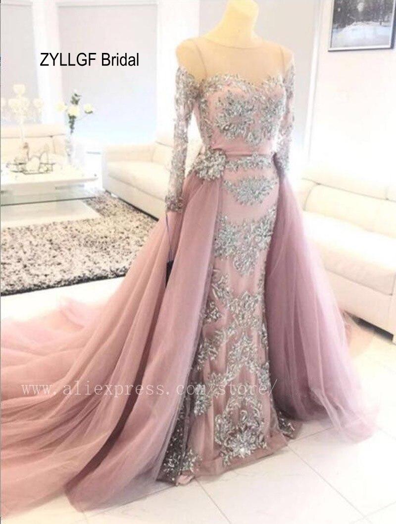 ZYLLGF Nupcial Arabia Saudita Dubai Vestido de Noche de La Sirena de ...
