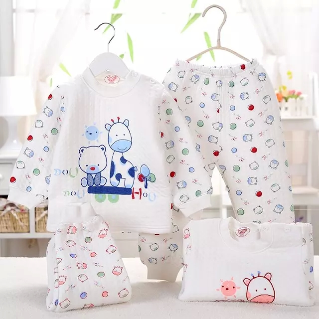 2pcs/set  Newborn Baby 0-6M warm Clothing Set  Baby Boy/Girl Clothes 100% Cotton Underwear winter coat  pants newborn baby boy girl 5 pcs clothing set cotton cartoon monk tops pants bib hats infant clothes 0 3 months hight quality