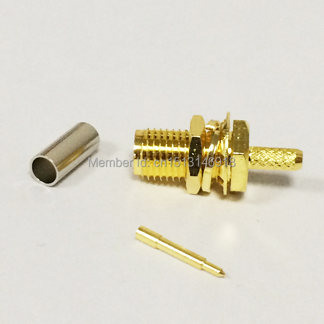 1pc  RPSMA Connector RP-SMA Female Jack nut RF Coax Connector Crimp  RG316 RG174 LMR100  Straight Wire Connector Goldplated  NEW шары pyramid super aramith pro cup tournament 67мм