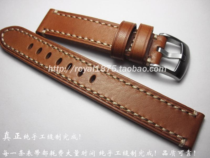 New Design 18 19 20 21 22 Mm Handmade High Quality Wristband Men Watch Band Straps +Vintage Calfskin Watchband For Brand Watch