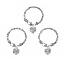 Three Heart shaped Big Sis Middle Sis Little Sis Baby Sis Crystal Paved Heart Shape Charm