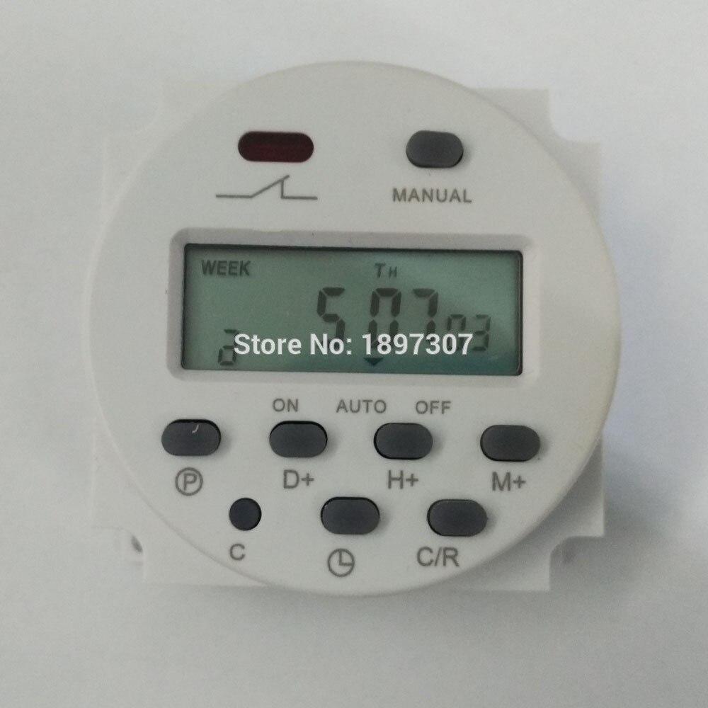 Cn101a Ac 220 V Digital Lcd Energien-programmierbares Timer-zeitschalter Den Menschen In Ihrem TäGlichen Leben Mehr Komfort Bringen Messung Und Analyse Instrumente