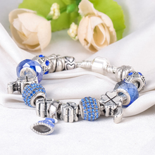 Blue Bracelets & Bangles with AAA Crystal/Glass Beads