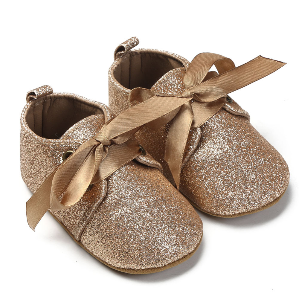 Baby Shoes Anti Slip Soft Sole Baby Girls Shoes Newborn Riband Lace - Kūdikių avalynė