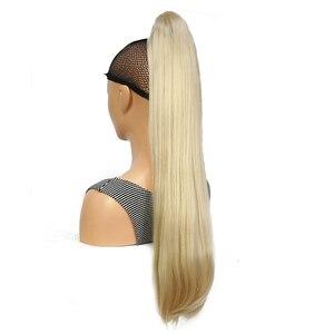Image 2 - StrongBeauty Klaue Clip Pferdeschwanz Lange gerade Haarteil Synthetische Haar Verlängerung