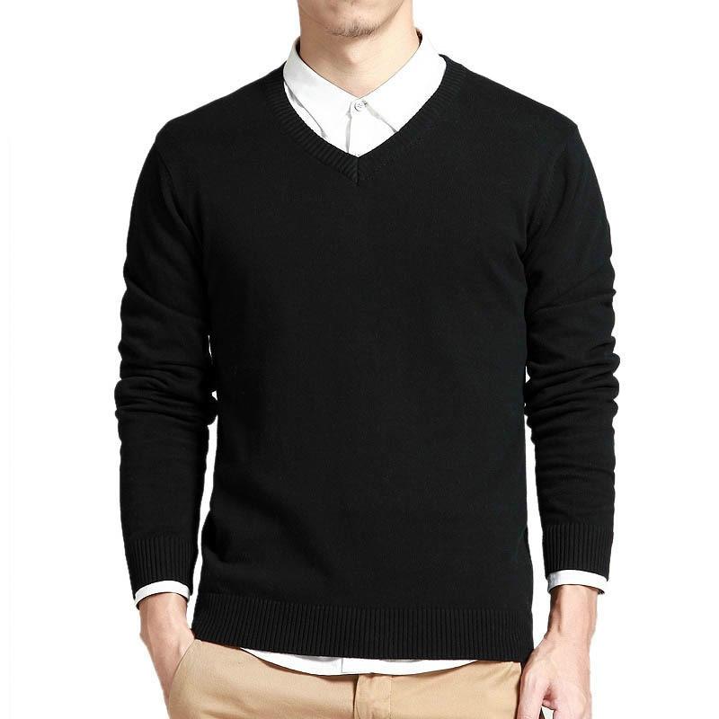 Brautschmuck Sets Brillant Baumwolle Pullover Männer Langarm Pullover Outwear Mann V-ausschnitt Pullover Tops Lose Solide Fit Stricken Kleidung Rs-228 Feine Verarbeitung