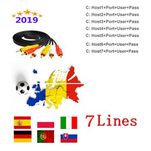 Europe Spain HD cable 1 Year cccam for Satellite tv Receiver 7 C-line WIFI FULL HD DVB-S2 Support Spain cccam cline Server 1 year europe cccam server hd kii pro dvb t2 dvb t2 tuner android tv box full 1080p italy spain arabic cccam cline media player
