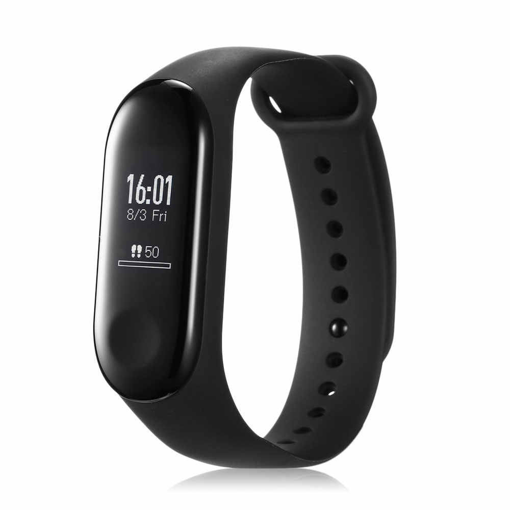 100% Original MI Band 3 Miband 3 Smart Tracker Band Instant Message 5ATM Waterproof OLED Touch Bluetooth 4.2 Screen smart watch