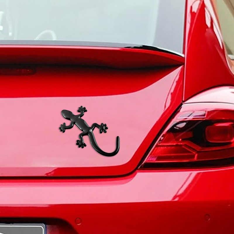 Gecko jaszczurka Quattero 3D metalowe Ho samochodów Auto motocykl Logo godło naklejki plakietki do stylizacji samochodu samochody akcesoria do stylizacji samochodów