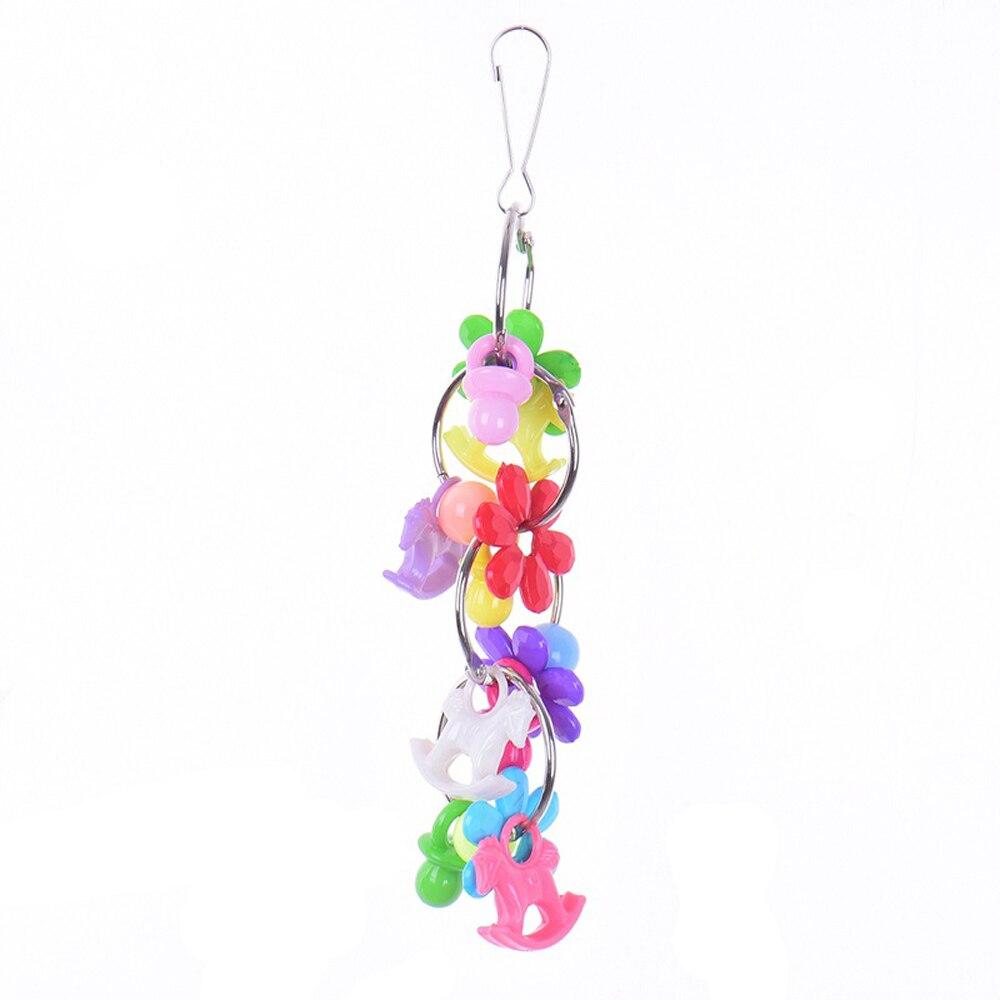 8 видов стилей игрушки-попугаи деревянные птицы стоящая Жевательная стойка игрушки шарик в форме сердца, звезды Попугай Игрушка птица игрушки аксессуары - Цвет: D
