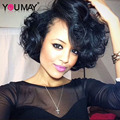 7A 250% High Density Brazilian Wavy Bob Wig Lace Front Human Hair Wigs For Black Women With Baby Hair Short Human Hair Wigs