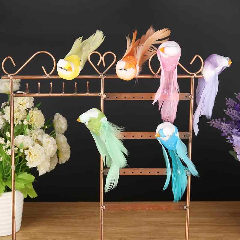 6pcs/set Artificial Foam Feather Lifelike Beads Simulation Bird DIY Party Crafts Ornament Props Home Garden Wedding Decoration
