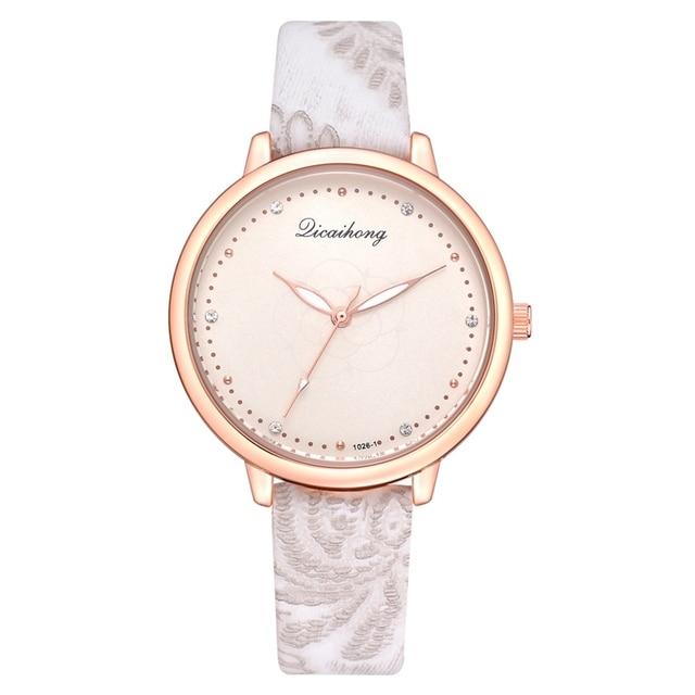 Watches Women Fashion Luxury Sport Women Bracelet Watch Pattern Leather Strap Si