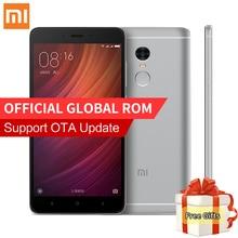 "Original Xiaomi Redmi Nota 4 Smartphone 3 GB RAM 32 GB ROM MTK Helio X20 Deca Core 5.5 ""1080 P 13.0MP 4100 mAh MIUI 8 IDENTIFICACIÓN de Huellas Dactilares"