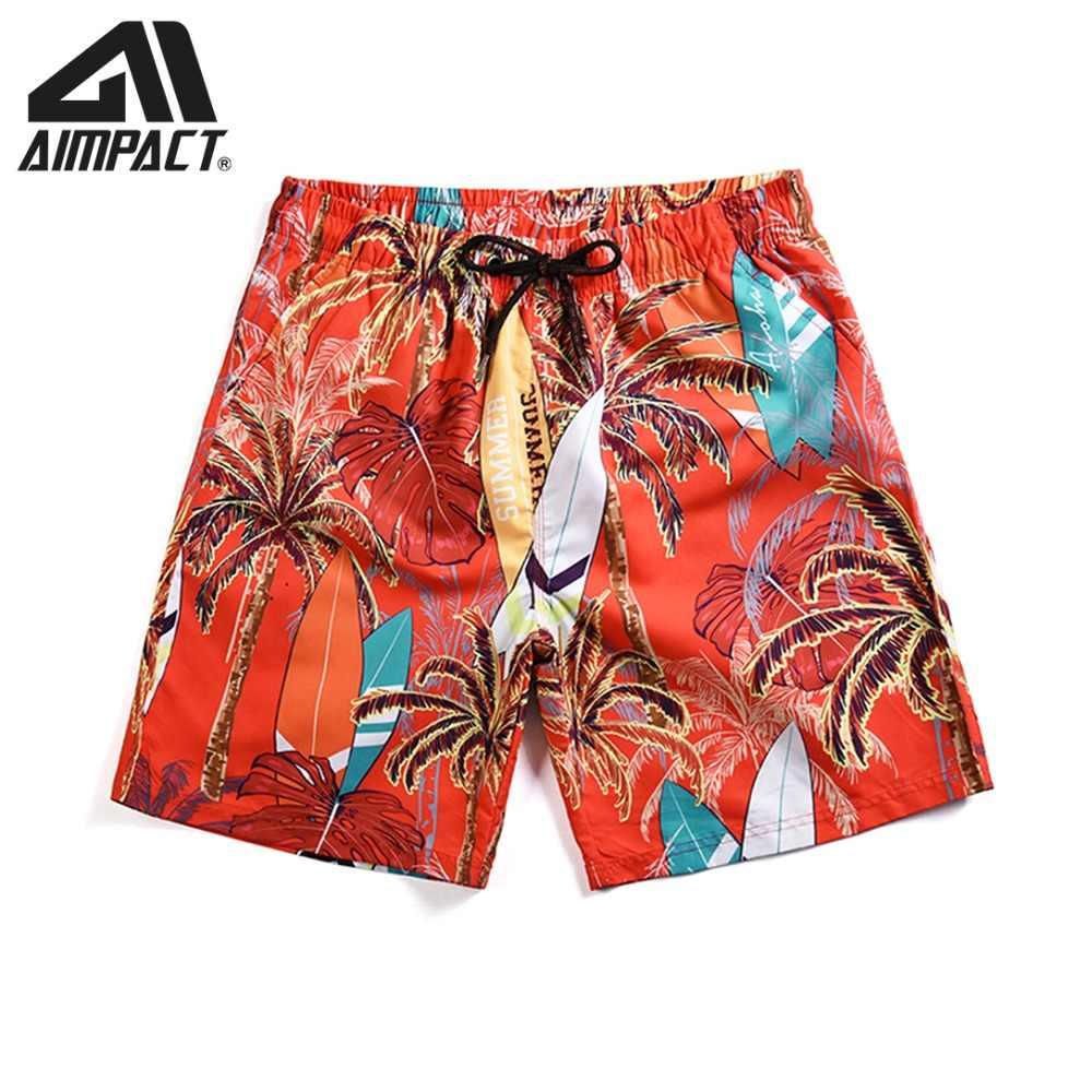 Новый Для мужчин Гавайи пляжные шорты быстросохнущая плюс Размеры 3XL для плавания пляжные шорты купальник с принтом пикантные купальники Bathsuits