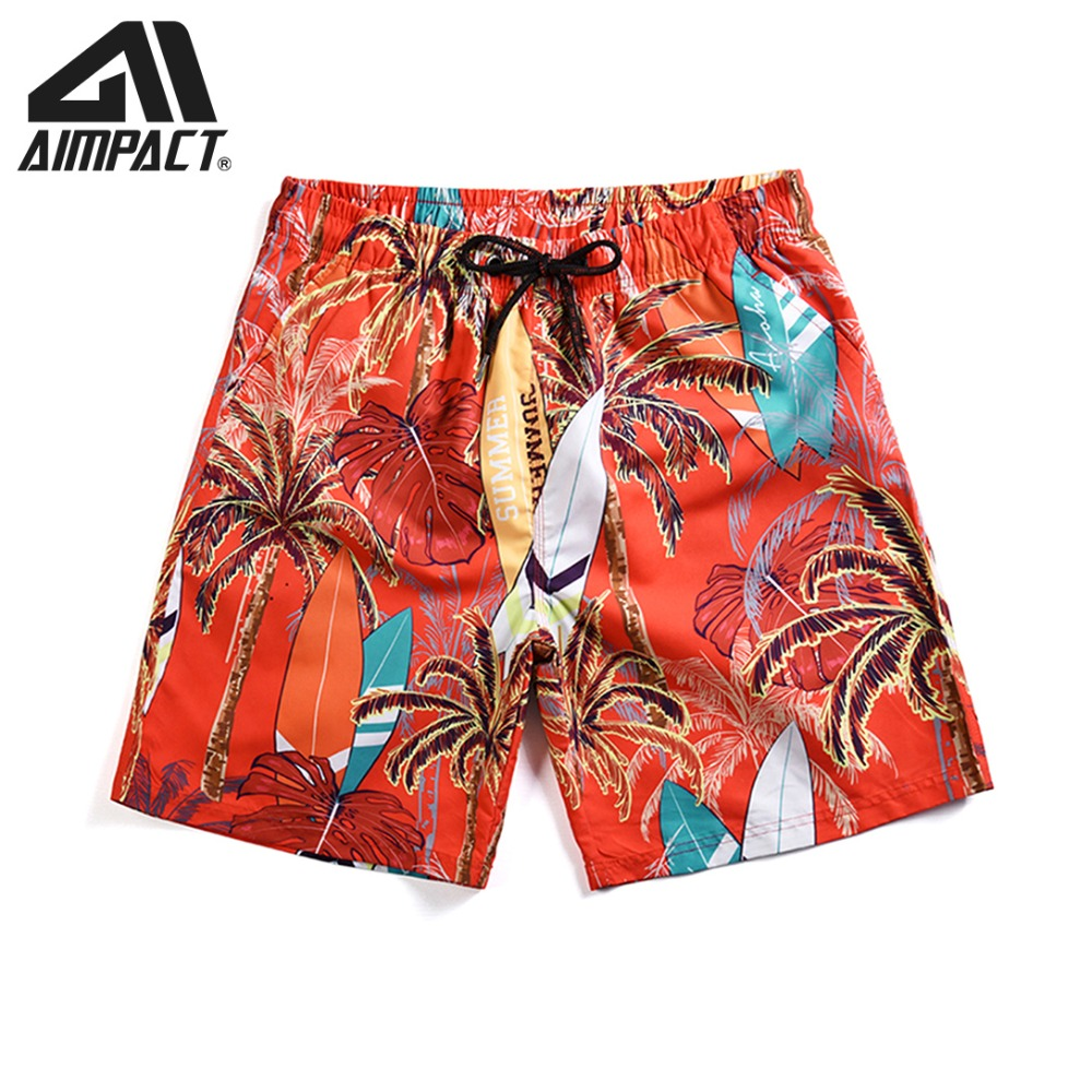 New Men's Hawaii Beach   Board     Shorts   Quick Dry Plus Size 3XL Swimming Beach Trunks Printed Beachwear Sexy Swimwear Bathsuits