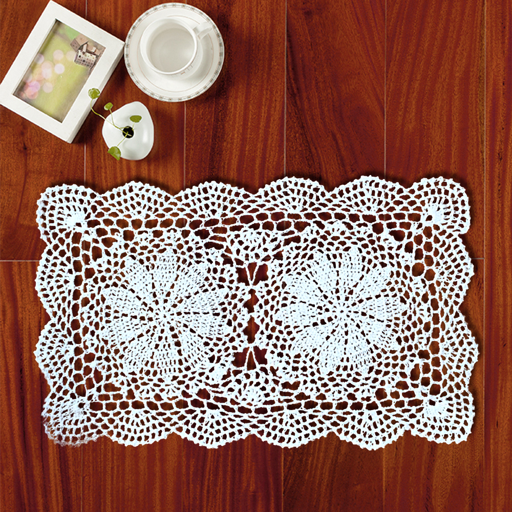 Yazi 4pcs handmade table placemat cotton hollow floral doily pads yazi 4pcs handmade table placemat cotton hollow floral doily pads crochet table mat table cover tablecloths home decor in mats pads from home garden on bankloansurffo Image collections
