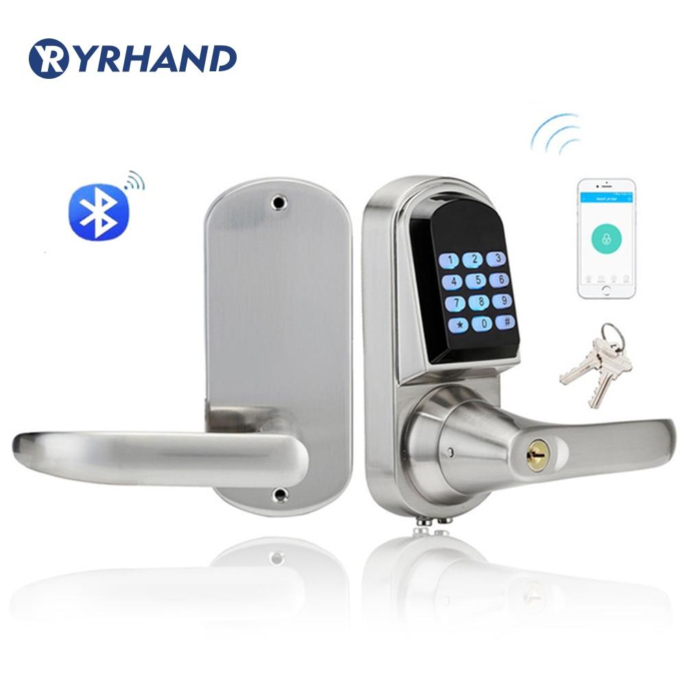 Keyless Bluetooth Digital Door Lock Mini Electronic Keypad Smart Door Lock control door lock wireless lockKeyless Bluetooth Digital Door Lock Mini Electronic Keypad Smart Door Lock control door lock wireless lock