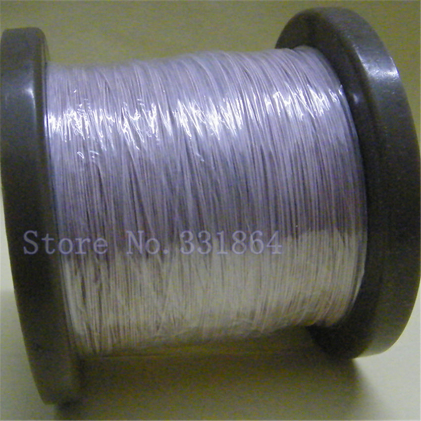 Free Shipping 0.05x50 shares Leeds line multi-strand polyester yarn envelope copper wire yarn package line 500m