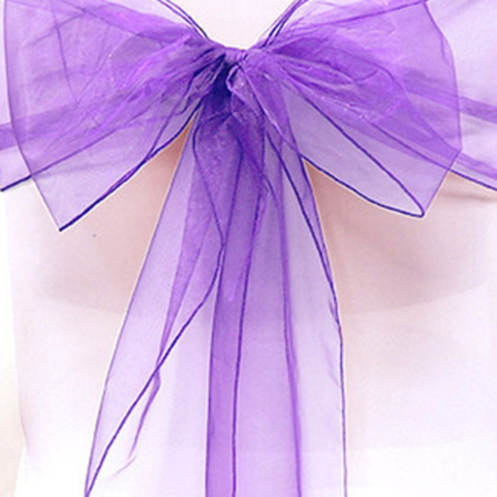 Sashes Objective 18cm*275cm Organza Chair Sashes Bow Cover Chair Sashes Tulle For Weddings Christmas Events &party Banquet Christmas Decor Sashes