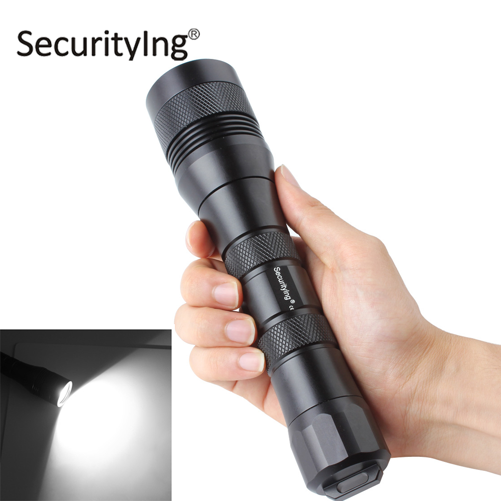 ФОТО SecurityIng Scuba Diving Photography Flashlight Torch 120 Degrees Wide Beam 150M Underwater Waterproof XM-L2 U4 LED Flash Light