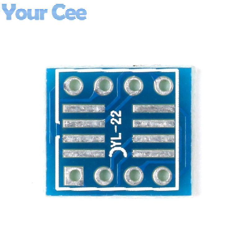 20PCS SOP8 SO8 SOIC8 TSSOP8 MSOP8 to DIP8 Adapter PCB DIY Conveter Board N Sot2