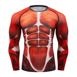 33f3852ee4f60 New 2018 fashion COMPRESSION TOP MAN MUSCLE Tees round neck 3D Tight  long-sleeved MMA T shirt camiseta Tops men marvel t shirt