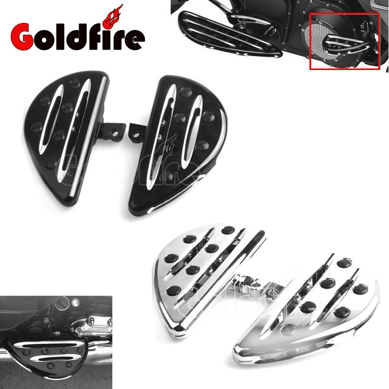 Motorcycle CNC Aluminum Driver Floorboards Foot Pedal footrest pegs For Harley Sportster 883 1200 Touring Dyna & Softail rsd motorcycle 5 hole beveled derby cover aluminum for harley touring flh t 2016 2017 for flhtcul and flhtkl 2015 2016 2017