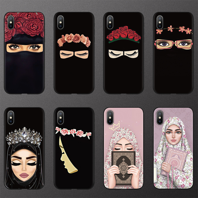Muslim Islamic Hijab Gril Eye Queen TPU Cases for iphone 6 6S 7 8 Plus FOR iphone X 11 Pro XS Max XR Case for iphone 10 5 5S SE