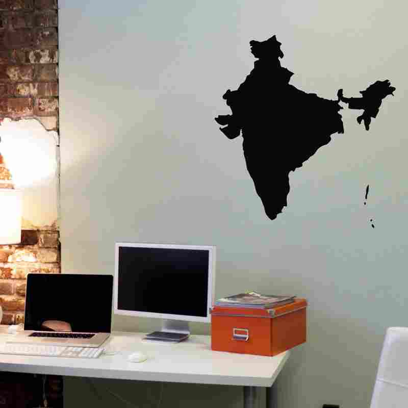 dctal india map sticker hindoo decal posters vinyl wall decals