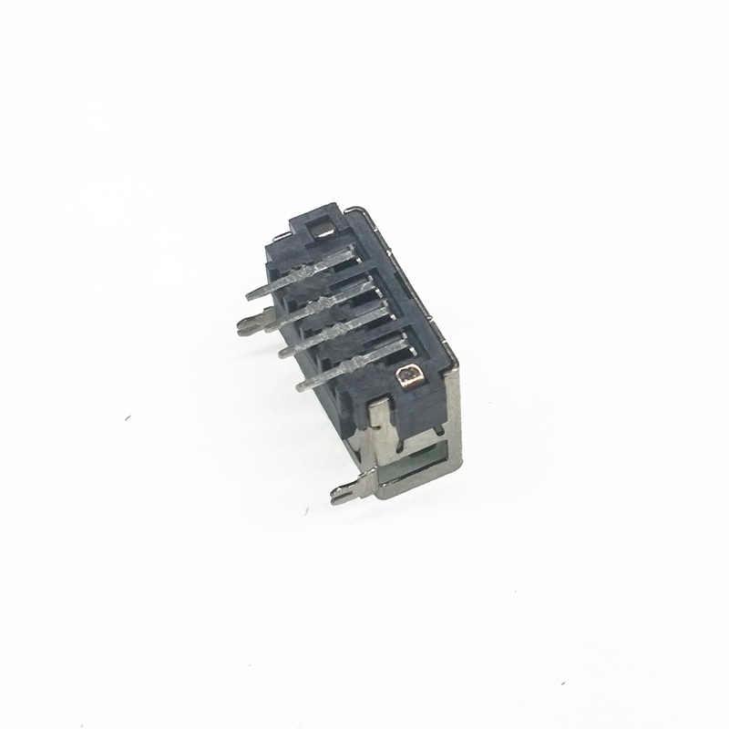 10 יח'\חבילה סוג USB נקבה 2.0 קצר גוף 4 פינים 2 רגל 90 הכנס ישיר נתונים תשלום תקע שקע שקע מחבר חוט Adapeter