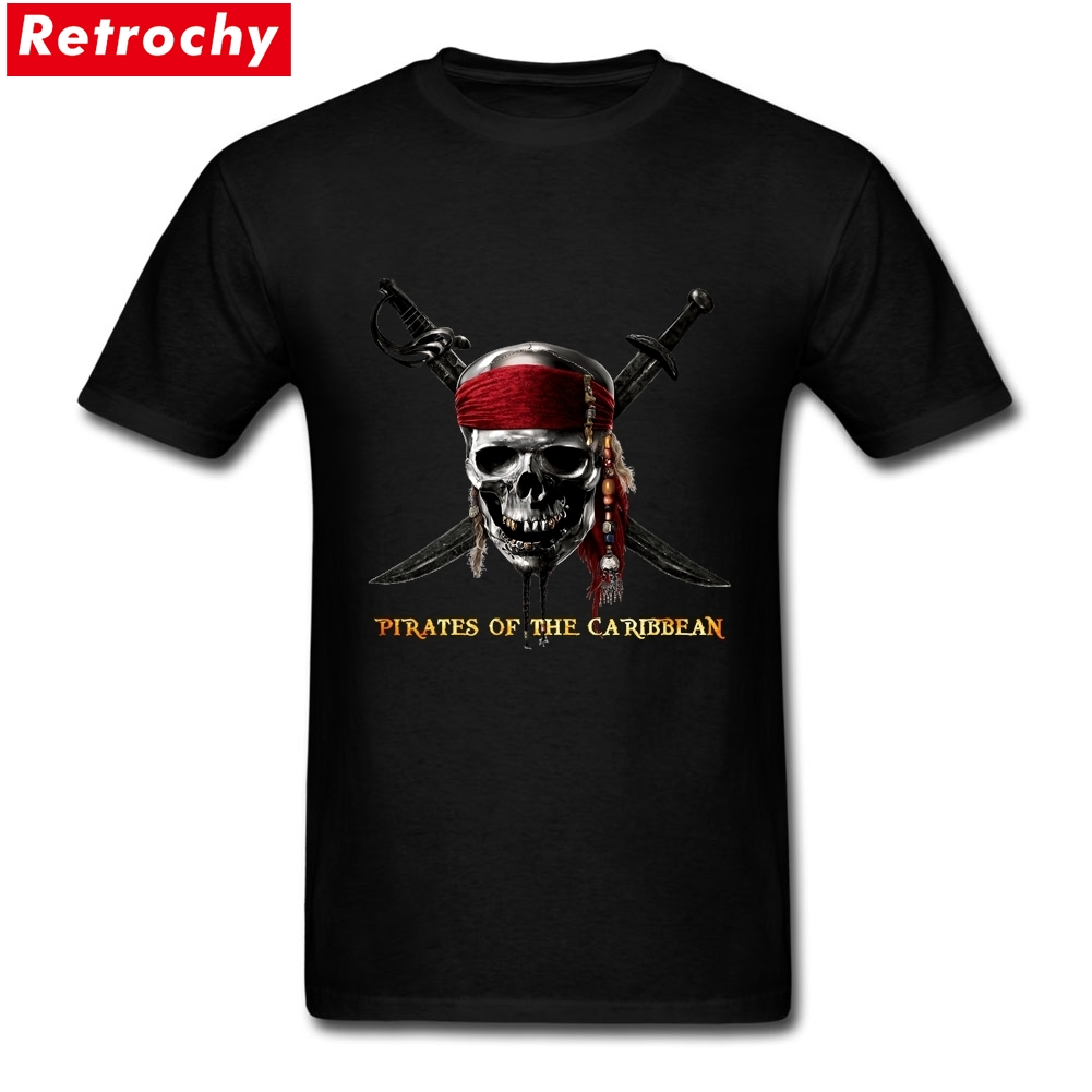 T Shirt Websites Pirates Of the Caribbean Graphic T-Shirt Mens Custom Cotton Short Sleeve Men's Create T-shirt 3XL