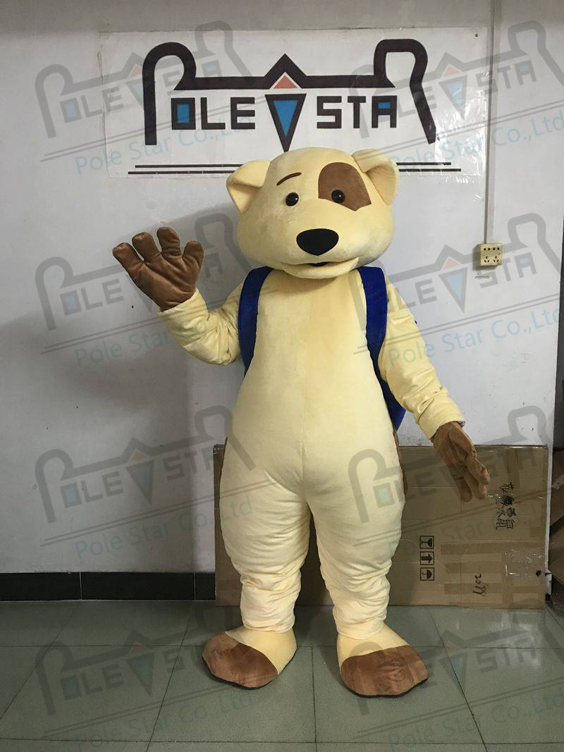Liberal Spot Dog Mascot Costumes Blue Backpack Cartoon Puppy Mascot Costumes Excellent Quality
