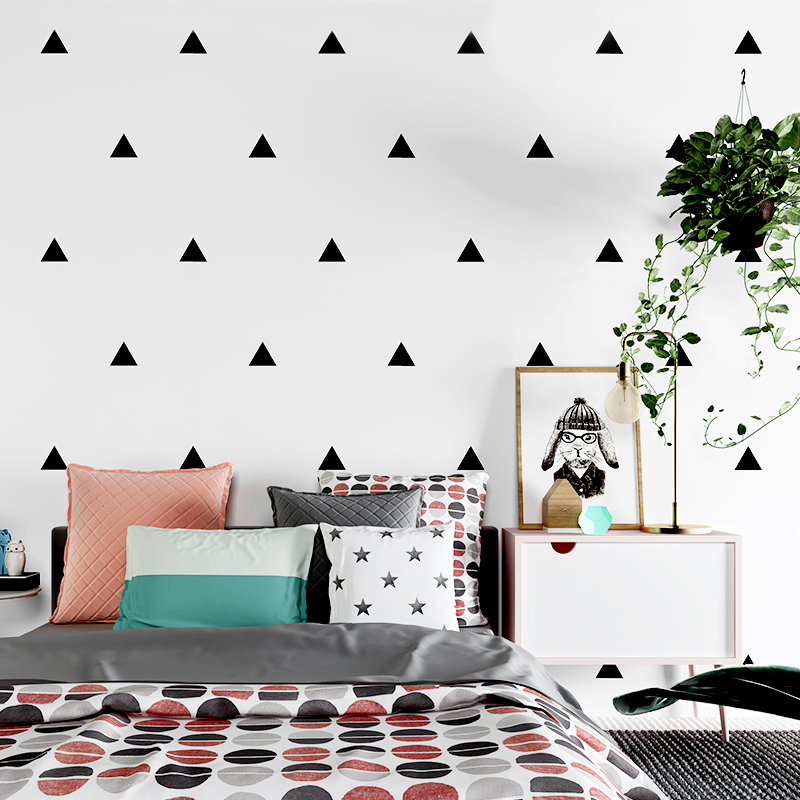 Nordic Style Living Room Bedroom TV Backdrop Wallpaper Modern Art Designs Black White Lattice Triangle Pattern Decor Wall PaperNordic Style Living Room Bedroom TV Backdrop Wallpaper Modern Art Designs Black White Lattice Triangle Pattern Decor Wall Paper