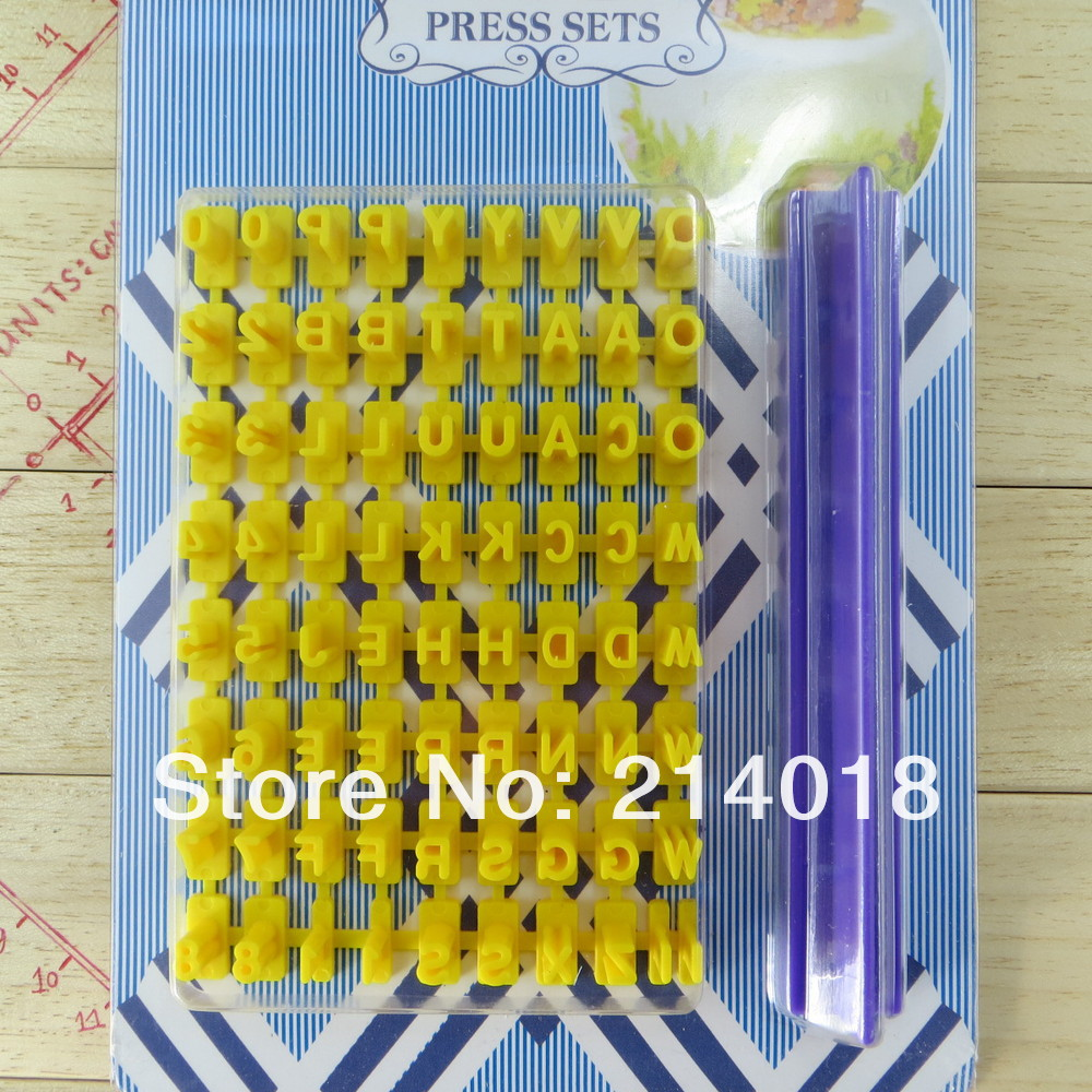 cookies mould (co-010) Cookie Stamp Press Alphabets&Numbers Shape Cookie Cutter Mold Biscuit Decorating Cake