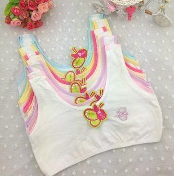 2dc1755bf21c5 Девушки   одежда V-TREE cotton young girls training bra 10-15 years old  children bras Condole belt vest kids bra camisole for child