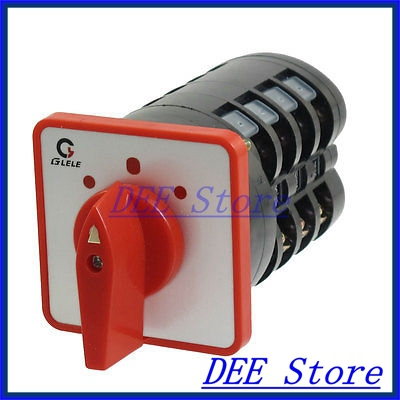 16A/500VAC 16 Screw Terminals ON/OFF/ON 3 Position Universal Changeover Switch 660v ui 10a ith 8 terminals rotary cam universal changeover combination switch