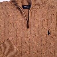 POLO RALPH LAUREN мужские кабель вязать свитер темно бежевый SZ M СЗТ $145