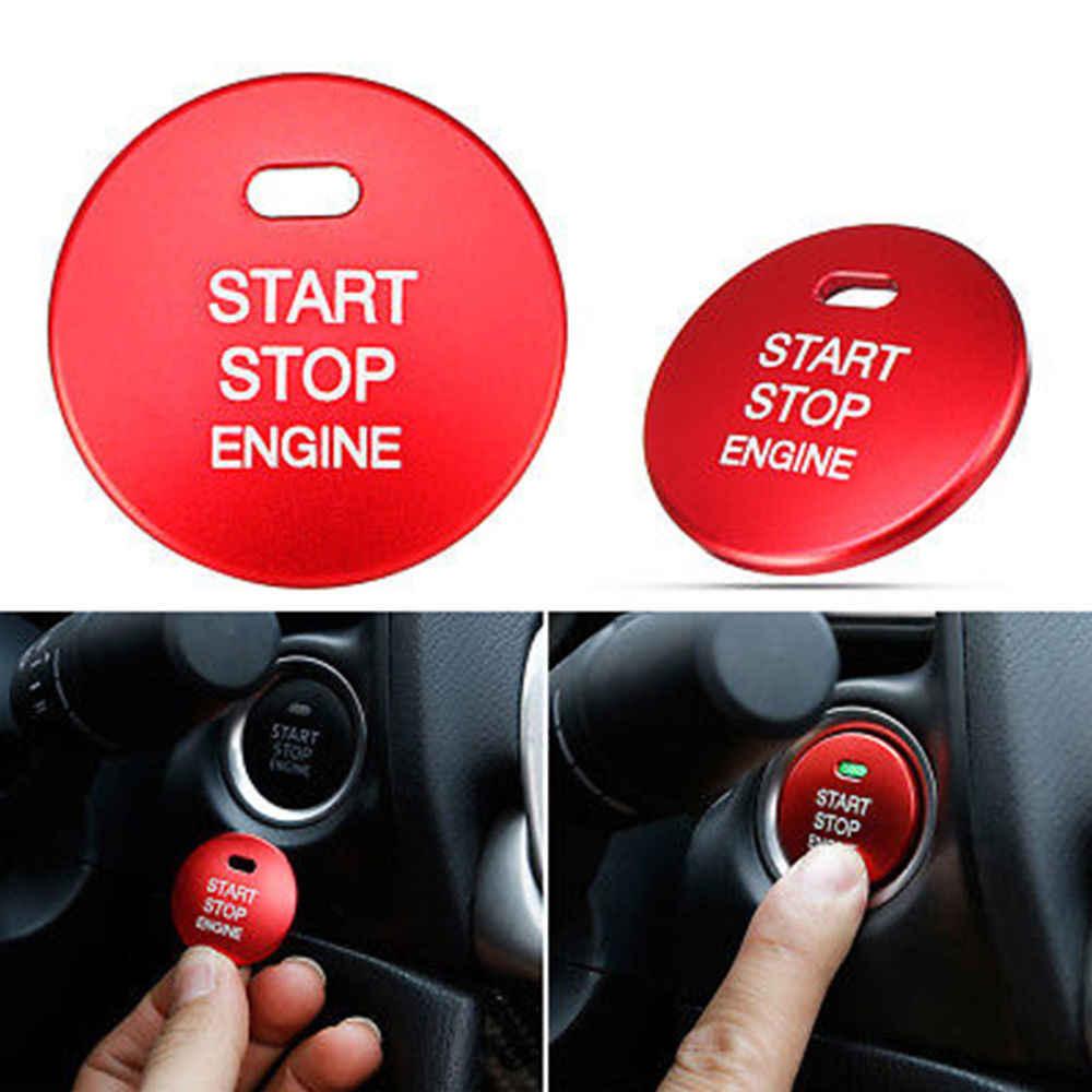 Запуска двигателя автомобиля стоп кнопка кольцо крышки Накладка для MAZDA  Axela Atenza CX-5 CX 18878ef4d5e08