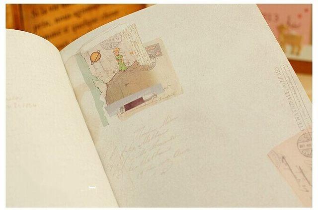 Ufficio Retro Wanita : Online shop vintage piccolo principe notebook di carta di colore