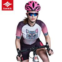 Santic 2019 Cycling Jersey Women Style Summer MTB Road Bike Breathable Cozy Bicycle Clothing Ropa Ciclismo