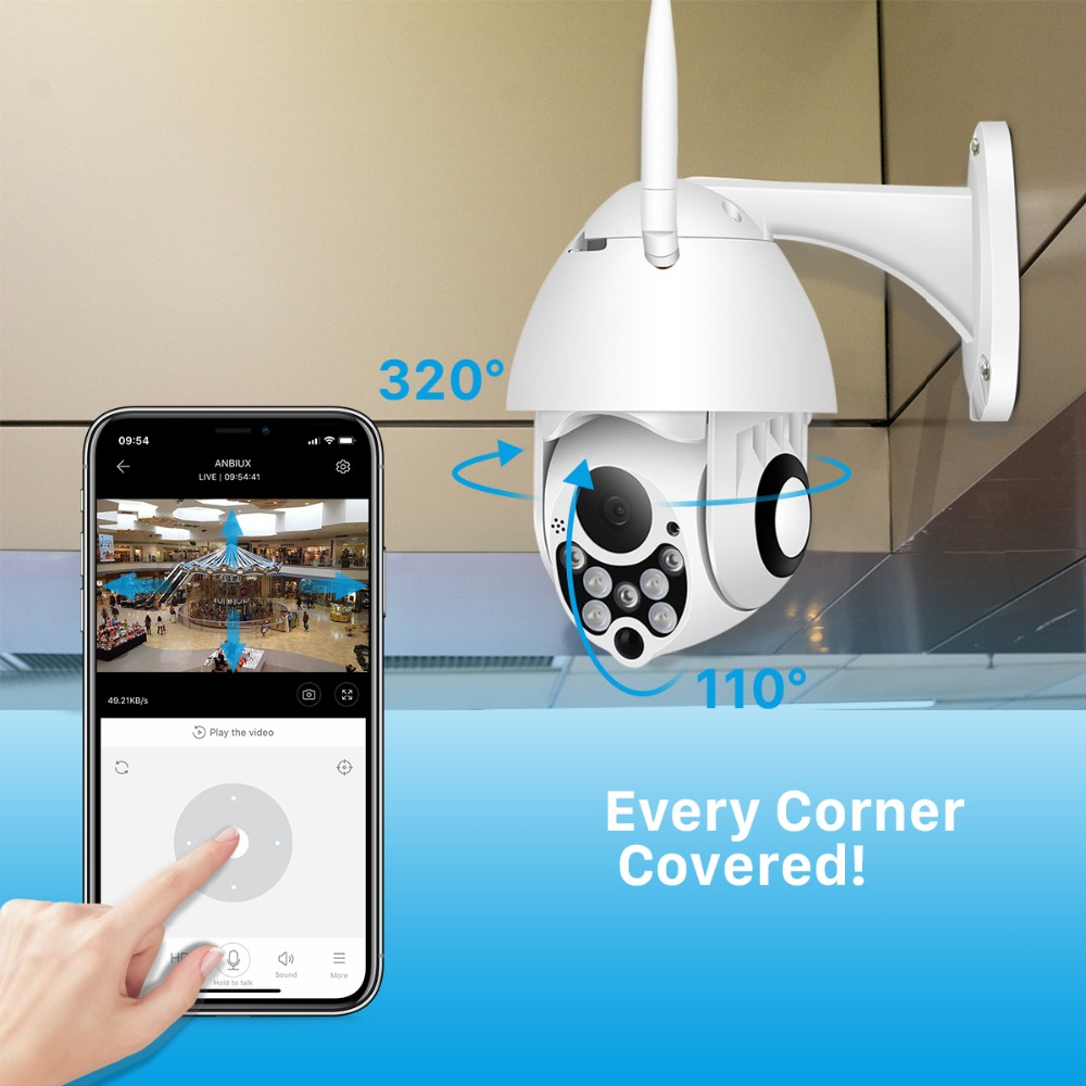 IP Camera Outdoor Speed Dome Wireless Wifi 1080p App Support
