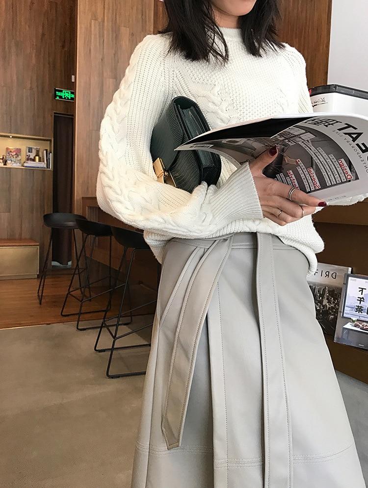 Dong Fan Tricoter souris Qiu Grand 18 À Manteau Chandail Spot Irrégulière De Chauve Torsion Manches Femmes 3Lj4A5Rq