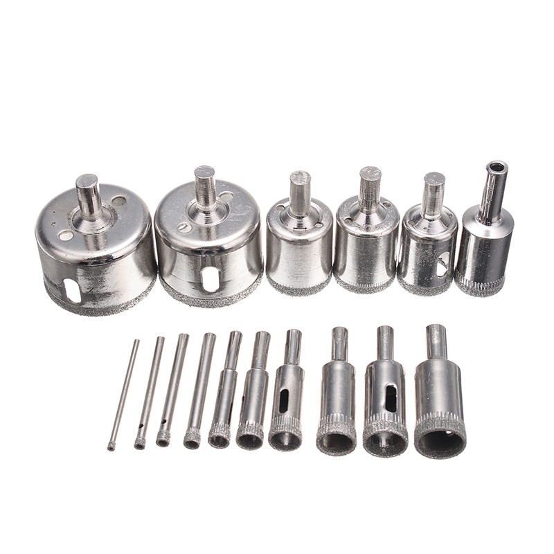New Arrival 16pcs 3-45mm Diamond Hole Saw Drill Bits Set Glass Marble Granite Hole Saw Cutter Tool best promotion 10pcs set diamond holesaw 3 50mm drill bit set tile ceramic porcelain marble glass top quality